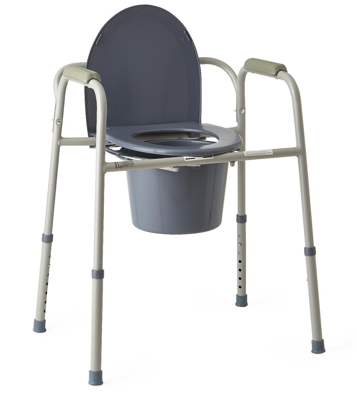 Equipment & Furnishings Bathroom Safety Commodes - Mds89664 - Commode 3-in-1 Steel MDS89664