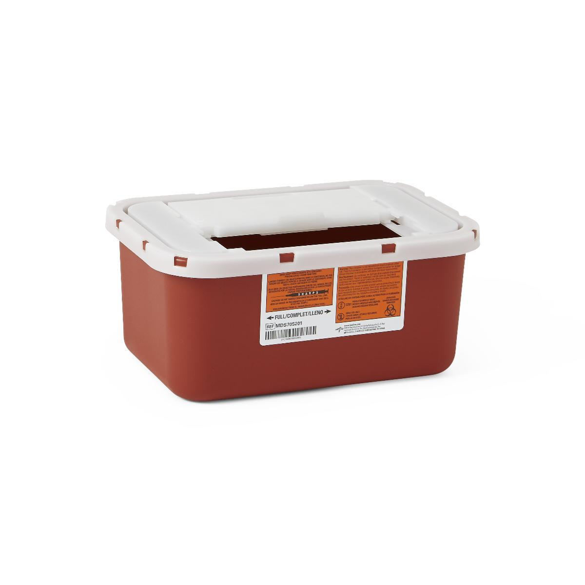 Nursing Supplies & Patient Care Sharps Containers - Mds705201h - Container Sharps 1 Ga. Red Wall/free MDS705201H