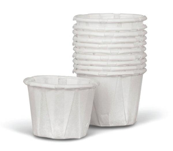 Solo Disposable Paper Souffle Cups,1oz,5000/Case,P100 NON024220
