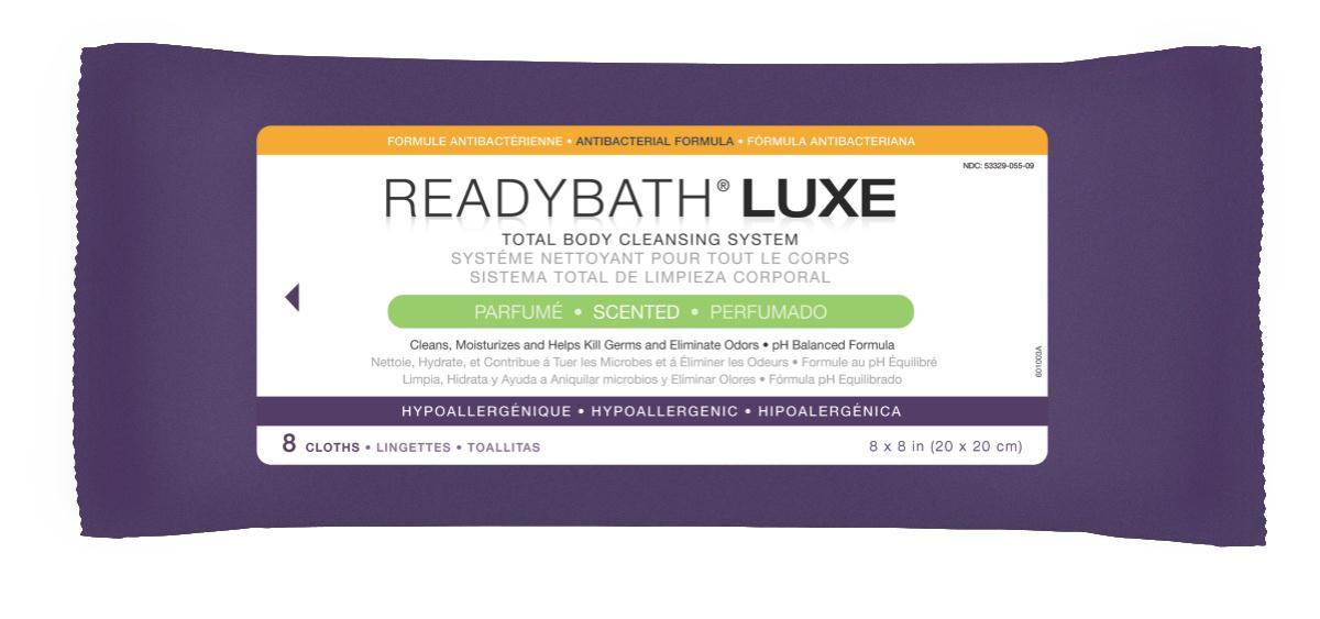 Nursing Supplies & Patient Care Skin Care Cleansers Wipes - Msc095100h - Readybath Luxe Antibac Scented 8/pk MSC095100H