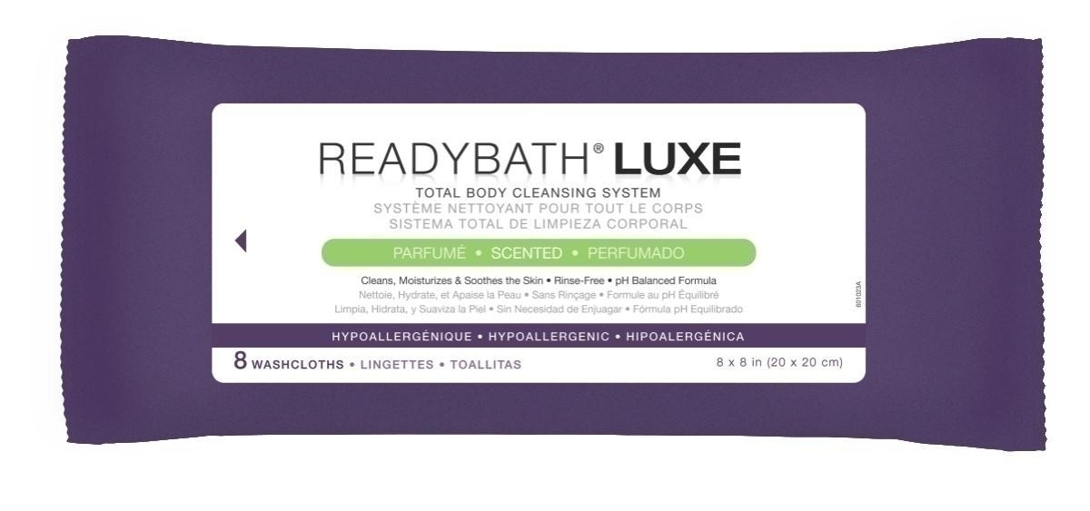 Readybath Luxe Scented 8/pk - Msc095102 - Skin Care Cleansers Wipes MSC095102