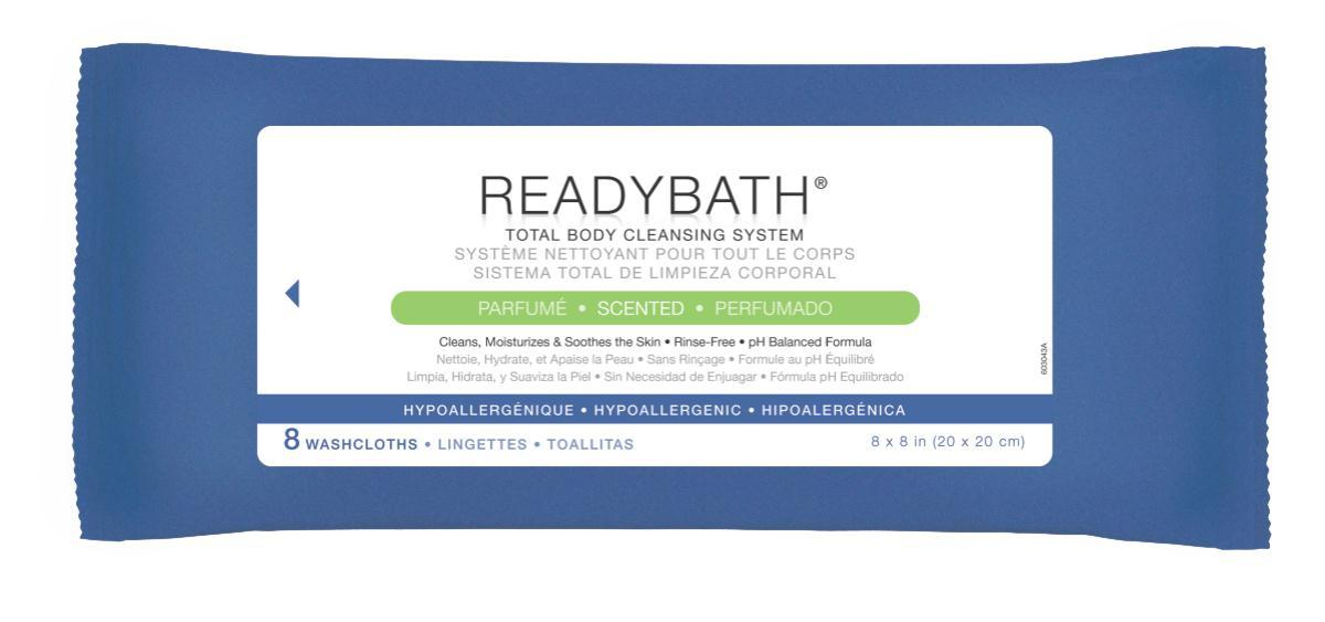 Readybath Scented 8/pk - Msc095304 - Skin Care Cleansers Wipes MSC095304