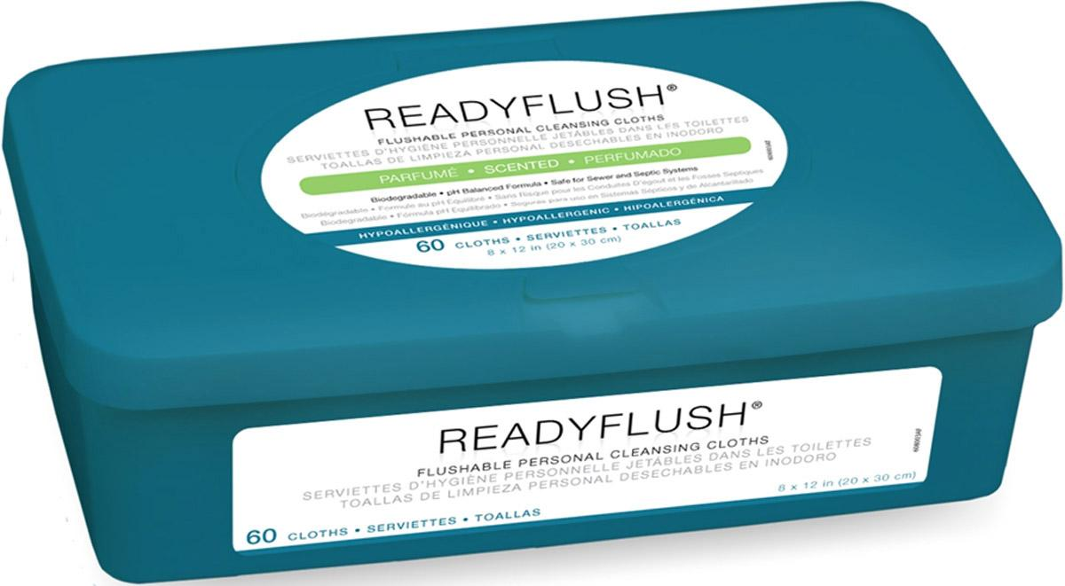 Wipe Readyflush Scented 60/tub - Msc263800 - H Sanitizers Incontinence Wet Wipes MSC263800
